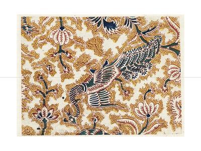 Peacock Design with Flowering Vines--Art Print