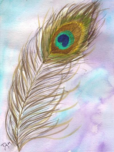 Peacock Feather 1-Beverly Dyer-Art Print
