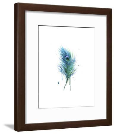 Peacock Feather Teal-Jessica Durrant-Framed Art Print