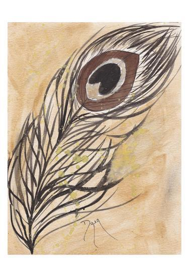 Peacock Feather-Beverly Dyer-Art Print