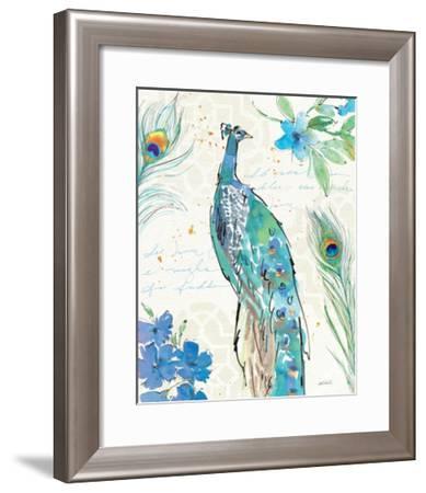 Peacock Garden II-Anne Tavoletti-Framed Art Print
