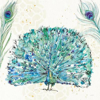 Peacock Garden IX Purple Square no Words-Anne Tavoletti-Art Print