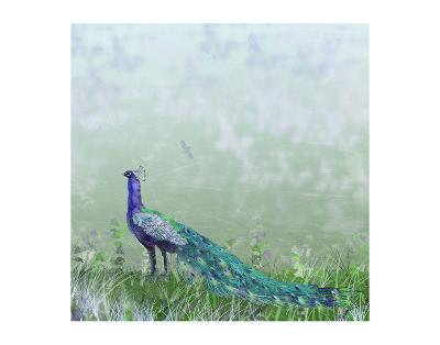 Peacock Garden-Claire Westwood-Art Print