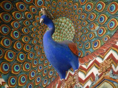 Peacock Gate in Pitam Niwas Chowk at City Palace-Kimberley Coole-Photographic Print