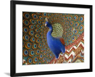 Peacock Gate in Pitam Niwas Chowk at City Palace-Kimberley Coole-Framed Photographic Print