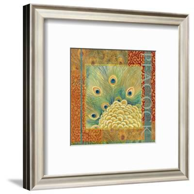 Peacock II-Louise Montillio-Framed Art Print