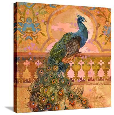Peacock In Shangri-La--Stretched Canvas Print