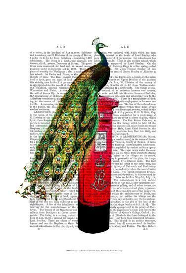 Peacock on Postbox-Fab Funky-Art Print