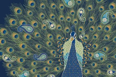 Peacock Paradise VI-Veronique Charron-Art Print