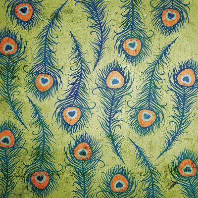 Peacock Pattern 1-Diane Stimson-Art Print