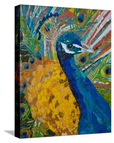 Peacock Plumage--Stretched Canvas Print
