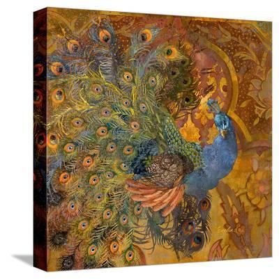 Peacock Prance--Stretched Canvas Print