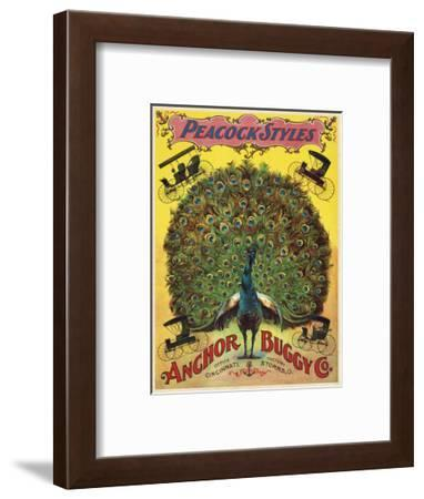Peacock Styles Anchor Buggy Co. ca. 1897-Vintage Reproduction-Framed Art Print