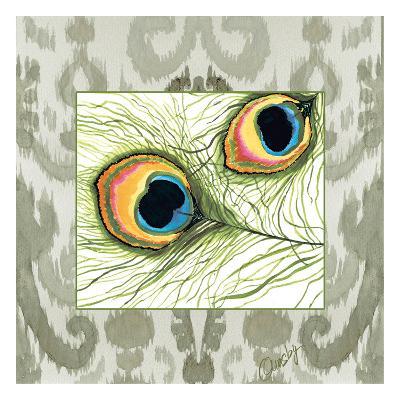Peacock Tile 2-Anne Ormsby-Art Print