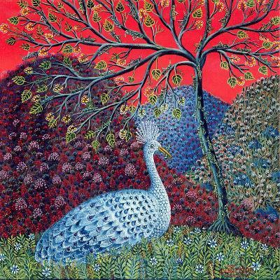 Peacock with Locusts, 1989-Tamas Galambos-Giclee Print