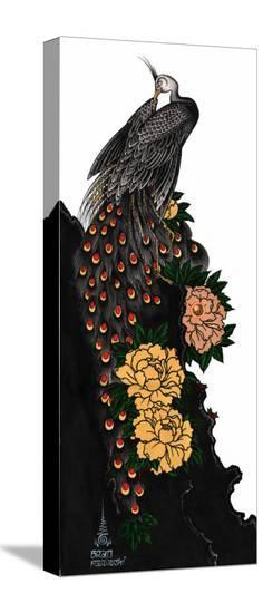 Peacock-Brad Mariachi-Stretched Canvas Print