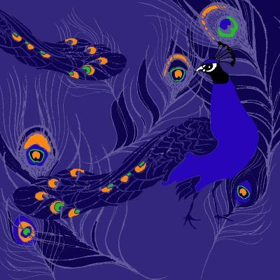 Peacock-Anna Platts-Giclee Print
