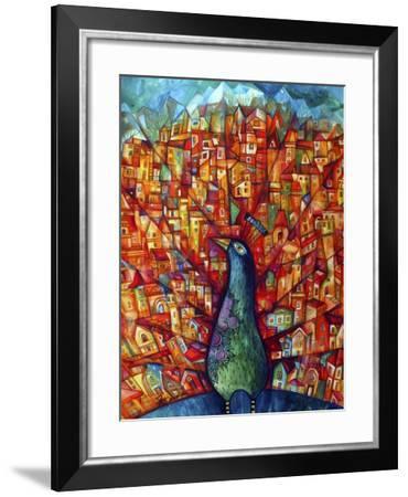 Peacock-Oxana Zaika-Framed Giclee Print