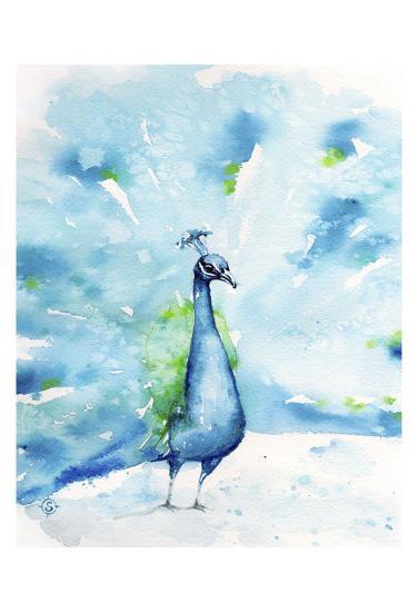 Peacocking Around-Sillier than Sally-Art Print