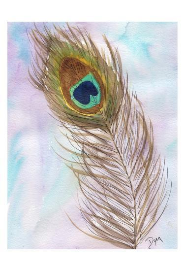 Peacocl Feather 2-Beverly Dyer-Art Print