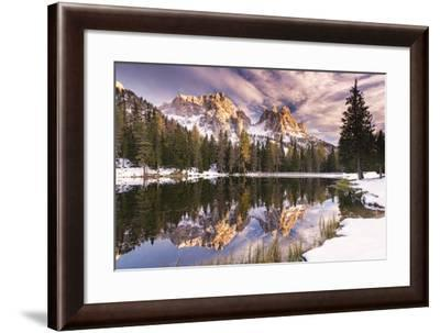 Peak in the Water-Michael Blanchette Photography-Framed Photographic Print