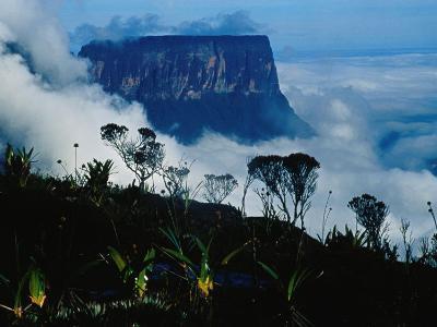 Peak of Mountain Seen through Clouds, Puerto la Cruz, Anzoategui, Venezuela-Krzysztof Dydynski-Photographic Print