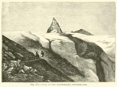 Peak of the Matterhorn, Switzerland--Giclee Print