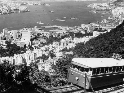 Peak Train with Hong Kong in Foreground-Philip Gendreau-Photographic Print
