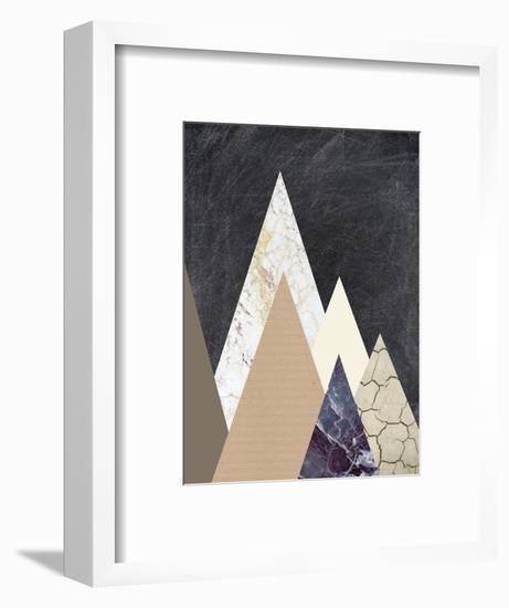 Peaks 2-Design Fabrikken-Framed Art Print