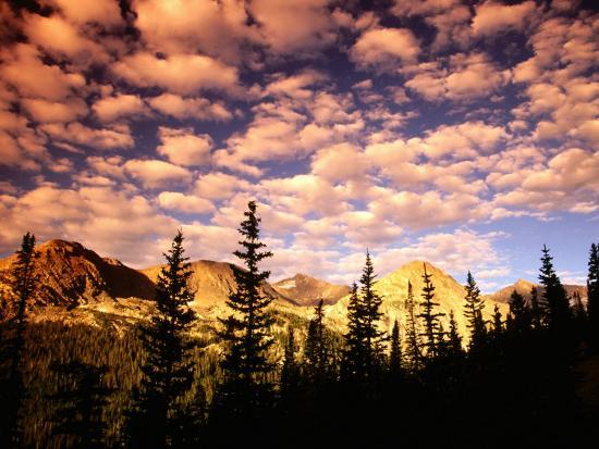 Peaks and Sky from Diamond Lake Trail, Indian Peaks Wilderness, Colorado-Witold Skrypczak-Photographic Print