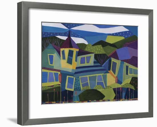 Peaks Island Castle-Catherine Breer-Framed Giclee Print