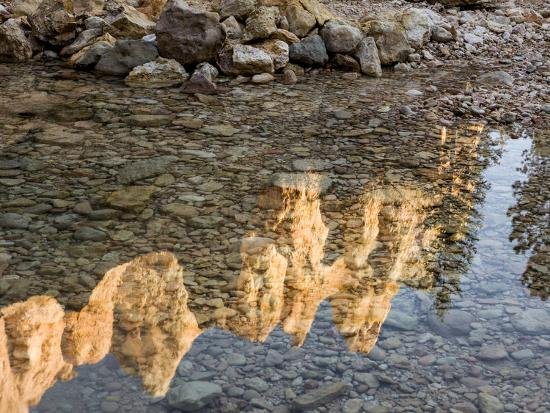 Peaks Reflecting in Small Pool at Mossy Cave at Bryce Canyon National Park, Utah, USA-Tom Norring-Photographic Print