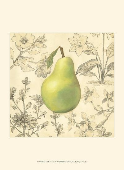 Pear and Botanicals-Megan Meagher-Art Print