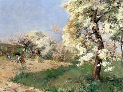 Pear Blossoms, Villiers-De-Bel-Childe Hassam-Giclee Print