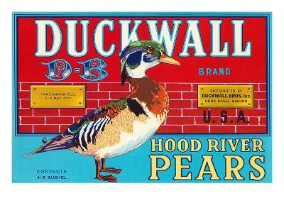 Pear Crate Label, Duckwall--Art Print