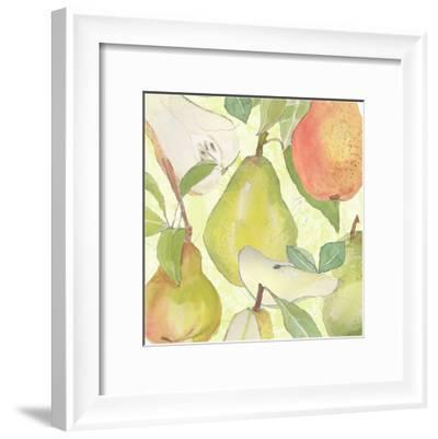 Pear Medley II-Leslie Mark-Framed Art Print