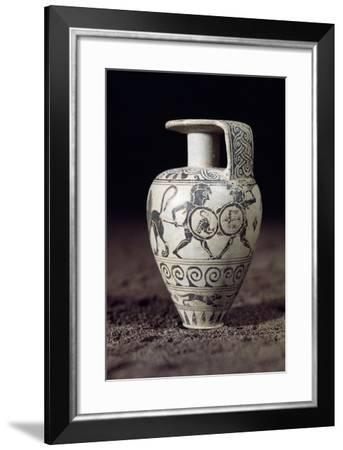 Pear-Shaped Black-Figure Aryballos from the Necropolis of Fusco in Syracuse--Framed Giclee Print
