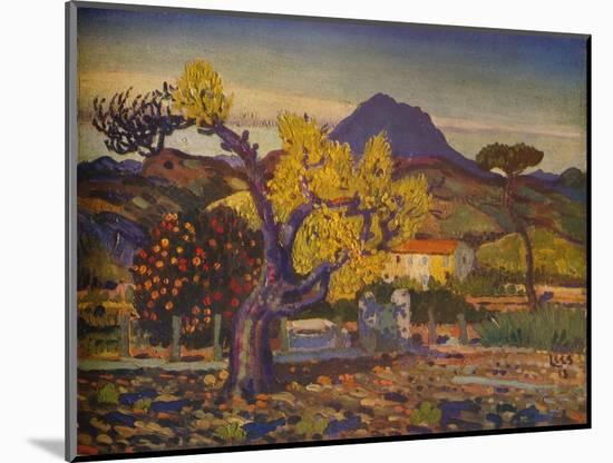 'Pear Tree in Blossom', 1913 (1932)-Derwent Lees-Mounted Giclee Print