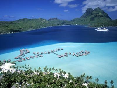 Pearl Beach Resort, Bora Bora, French Polynesia-Walter Bibikow-Photographic Print