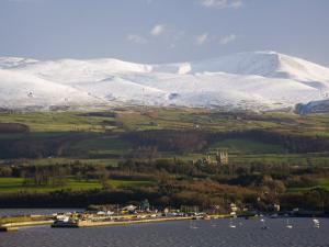 Bangor Port and Penrhyn Castle, Menai Bridge, Anglesey, North Wales, UK by Pearl Bucknall
