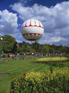 Bournemouth Eye, a Tethered Balloon Giving Rides Above the Town, Bournemouth, Dorset, England by Pearl Bucknall