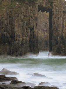 Church Doors Rock Formation in Skrinkle Haven Cove, Lydstep, Pembrokeshire, Wales, UK by Pearl Bucknall