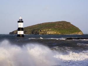 Penmon Point Lighthouse, and Puffin Island, Penmon by Pearl Bucknall