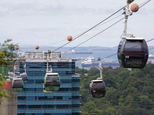 Sentosa Island Cable Cars, Singapore by Pearl Bucknall
