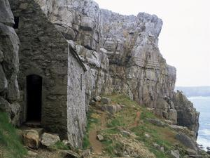 St. Govan's Celtic Chapel Dating from the 11th Century, St. Govan's Head, Wales by Pearl Bucknall