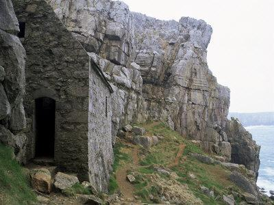 St. Govan's Celtic Chapel Dating from the 11th Century, St. Govan's Head, Wales
