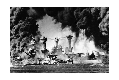 Pearl Harbor on December 7, 1941--Giclee Print