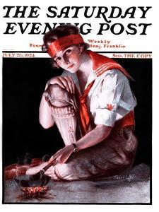 """""""Campfire Girl,"""" Saturday Evening Post Cover, July 26, 1924 by Pearl L. Hill"""