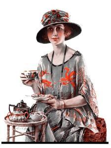 """""""Teatime,""""July 7, 1923 by Pearl L. Hill"""
