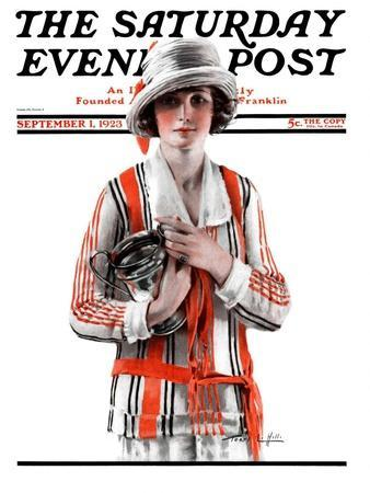 """Woman and Trophy,"" Saturday Evening Post Cover, September 1, 1923"